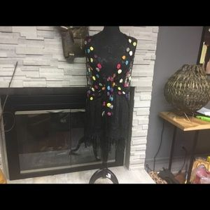 New listing. Crochet funky shawl / curtain